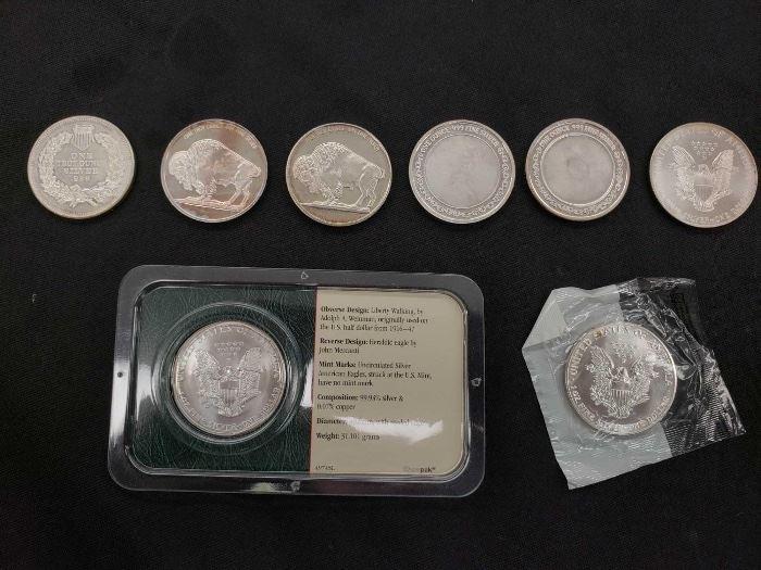 #35 9 Fine Silver .999 1ozt Commemorative Silver Coins 9 Fine Silver .999 1ozt Commemorative Silver Coins