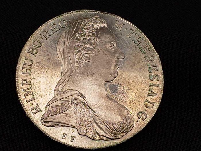 #36 1780 .833 Silver R.IMP.HU.BO.REG M. THERESIA.D.G Coin, 28g 1780 .833 Silver R.IMP.HU.BO.REG M. THERESIA.D.G Coin, 28g