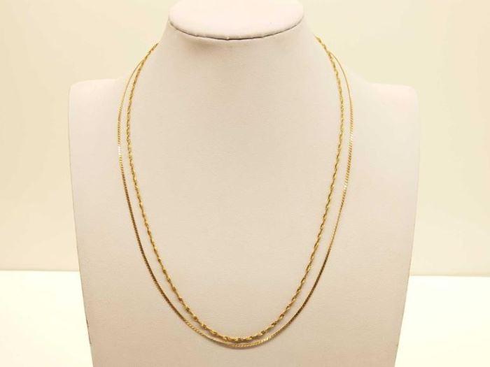 #53: 14k Gold Necklaces, 5.5g 14k Gold Necklaces, 5.5g