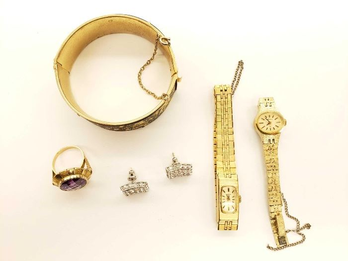 #93 Costume Jewelry, 2 Seiko Watches, Bracelet, Ring Costume Jewelry, 2 Seiko Watches, Bracelet, Ring