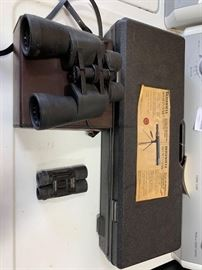 # 124 Bushnell spotting scope , and 2 pairs of binoculars Bushnell spotting scope , and 2 pairs of binoculars
