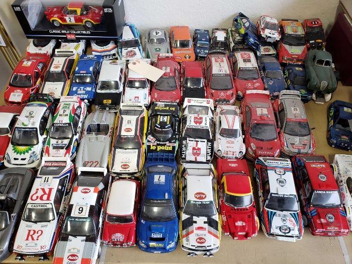 # 203 50 Diecast Rally Cars, Mostly 118 Sunstar, Kyosho, amd Maisto 50 Diecastl Rally Cars, Mostly Sunstar, Kyosho, amd Maisto