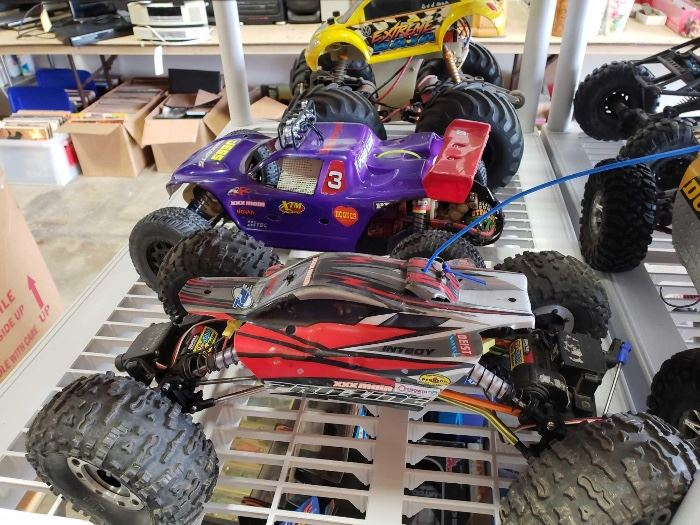 # 218 3 Electric Offroad RC Cars, 2 are 4WD 3 Electric Offroad RC Cars, 2 are 4WD
