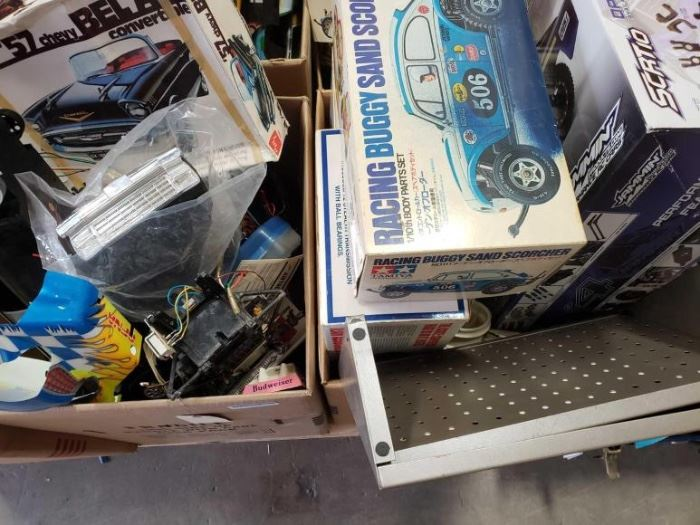 # 231 Model Cars, RC Car Bodies, RC Car, RC Car Boxes, and Misc Parts Model Cars, RC Car Bodies, RC Car, RC Car Boxes, and Misc Parts
