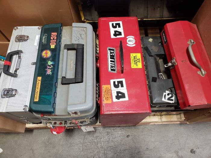 # 234 5 Tools Boxes Full of RC Car Parts and Tools for RC Cars 5 Tools Boxes Full of RC Car Parts and Tools for RC Cars