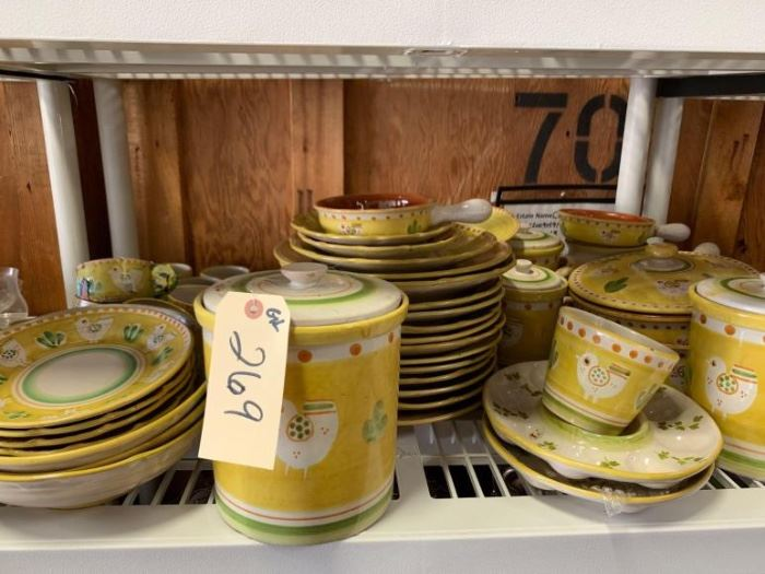 # 269 Italian made dish set ceramica solimene vietri Italian made dish set