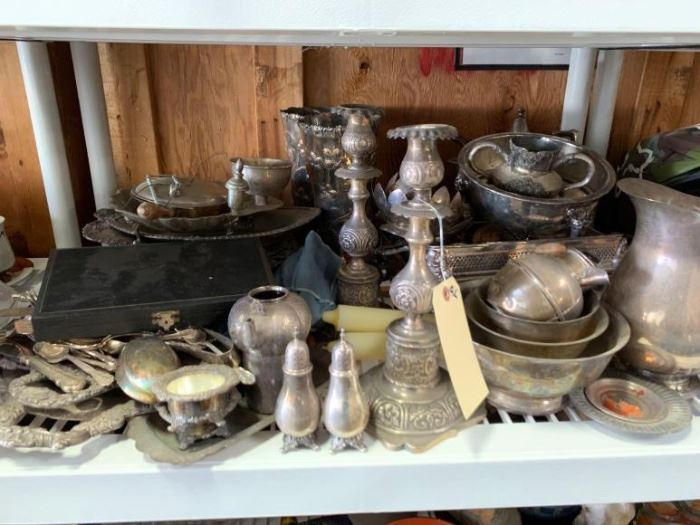 # 270 Huge lot of silver plated items Huge lot of silver plated items