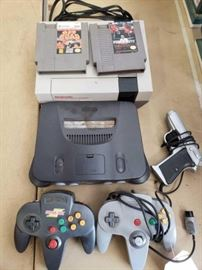 # 308 Nintendo 64 and NES with 2 Games, 2 Controllers, and Gun Controller Nintendo 64 and NES with 2 Games, 2 Controllers, and Gun Controller