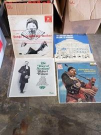 # 401 3 Boxes of Records, Robert Wilson, Charlotte Rae, Pipers on Parade 3 Boxes of Records, Robert Wilson, Charlotte Rae, Pipers on Parade
