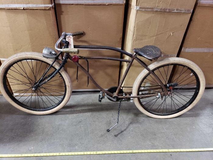 # 506 6 Foot Bicycle with Patina, Cruiser Bicycle Rat Rod Style Beach Cruiser 6 Foot Bicycle with Patina, Cruiser Bicycle Rat Rod Style Beach Cruiser