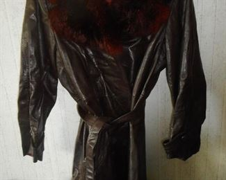 1970's Leather Tannery Coat