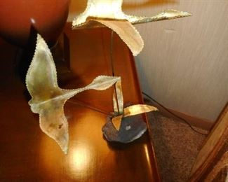 Mid Century Sculpture Birds