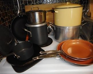 Cookware Copper Skillets, Farber Wrae