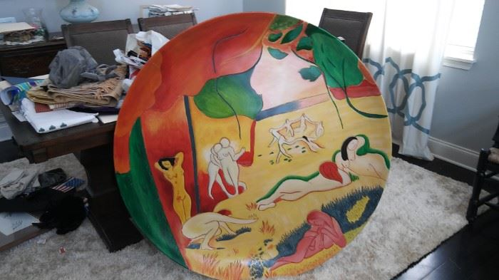 Large Picasso Style bowl wall art