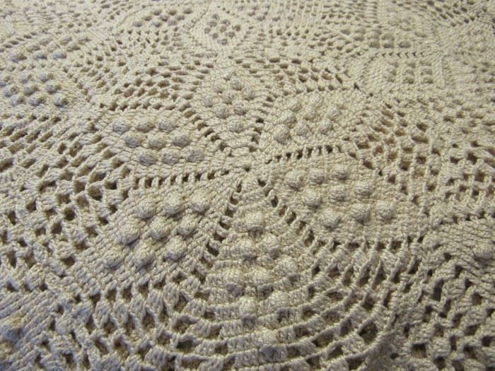 Hand crochet bed cover