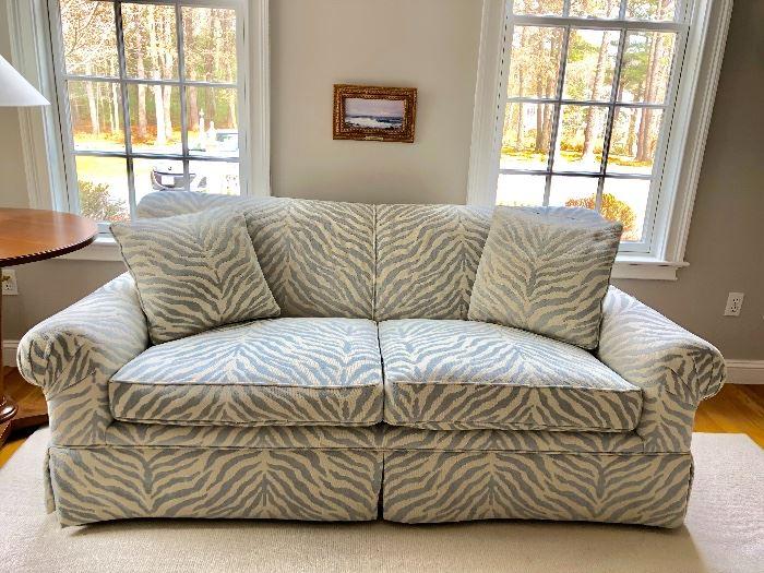 Blue-grey sofa