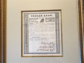 All Texas Memorabilia has been framed by Beaux Arts - the Best in Dallas!