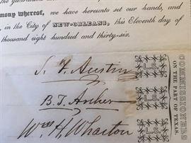 Stephen F. Austin Signature