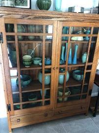 Curio Cabinet & Pottery