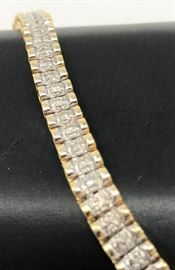 Gold and Diamond Tennis Bracelet https://ctbids.com/#!/description/share/120962