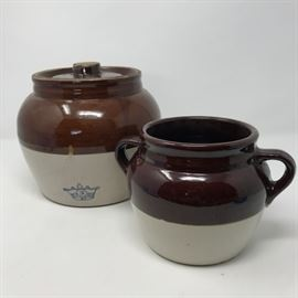 Bean Pot Crock and Lidded Bean Pot https://ctbids.com/#!/description/share/121245