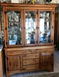 Kincaid Pine China Cabinet https://ctbids.com/#!/description/share/121262
