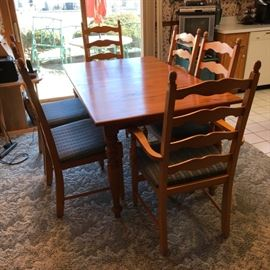 Kinkaid Chairs and Pine Table https://ctbids.com/#!/description/share/121258