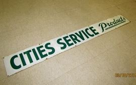6-foot Porcelain Cities Service products sign