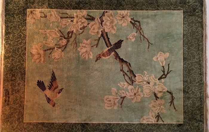 Beautiful Chinese Art Rug - handmade , shows age & still just beautiful.