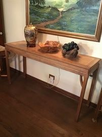 Handmade large sofa or accent table.