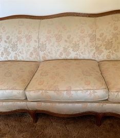 Antique Wood Frame Sofa/Couch 35x78x32inHxWxD