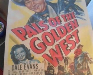 Pals of the Golden West Roy Rogers and Dale Evans awesome poster!
