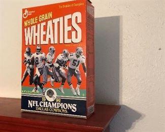 Unopened Wheaties Dallas Cowboys box