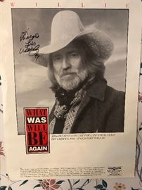 Original signature of Willie Nelson!!