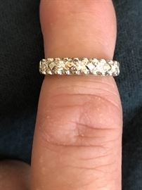 One of the wedding ring set