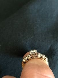Side view of Wedding ring