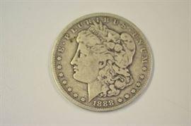 1888O Morgan Silver Dollar