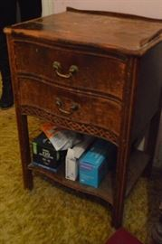 2 nightstands matching contents not included