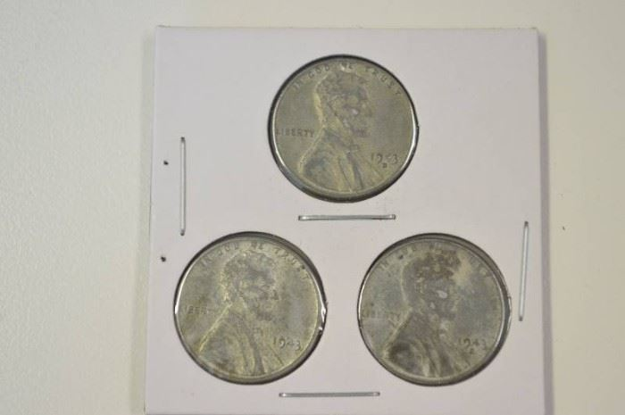 1943 Steel War Pennies PDS Mint Marks