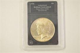 1924 Peace Silver Dollar Brilliant Uncirculated