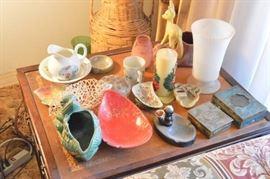 All decor trinkets on table