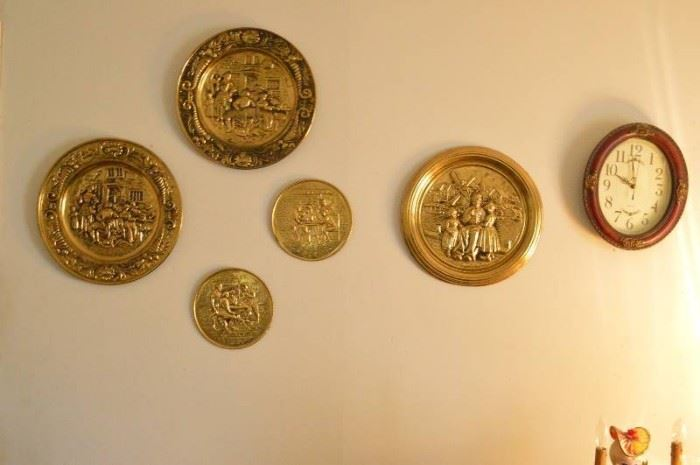 Brass wall decor clock