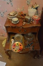 Misc. on two shelves Trinkets  Knick Knacks  N ...