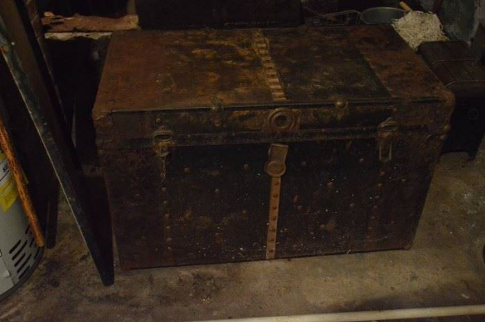 Trunk contents in basement