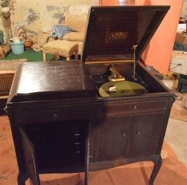 Victrola in basement