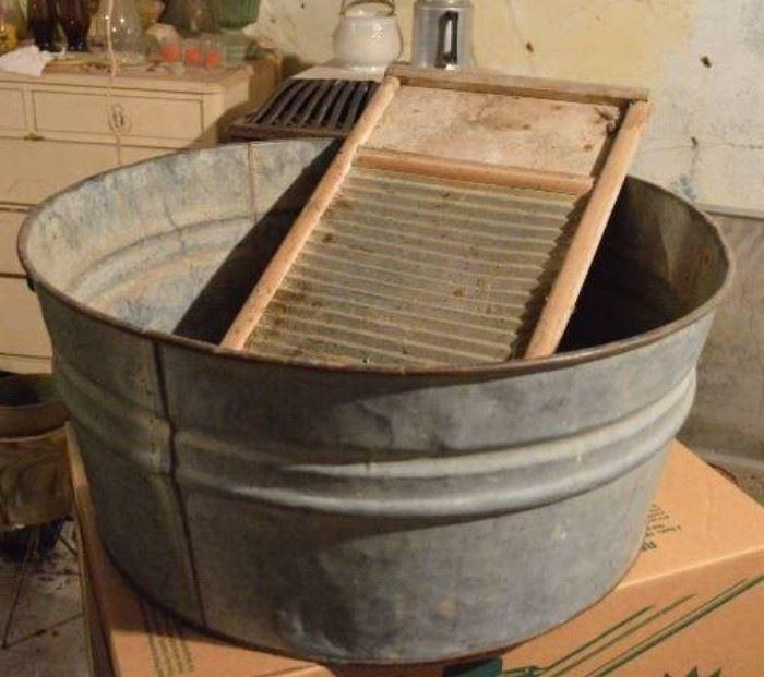 Washtub Washboard