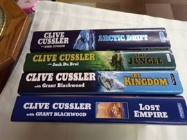 4 CLIVE CUSTLER HARDBACK BOOKS LOT