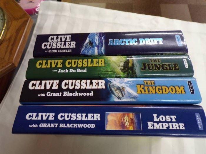 4 CLIVE CUSTLER HARDBACK BOOKS LOT