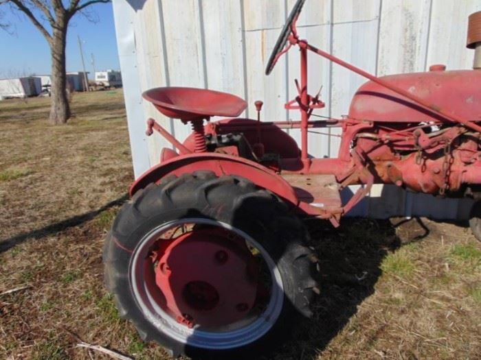Farmall Cub Tractor and Implements Runs Good  N ....
