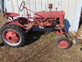 Farmall Cub Tractor and Implements Runs Good  N ...